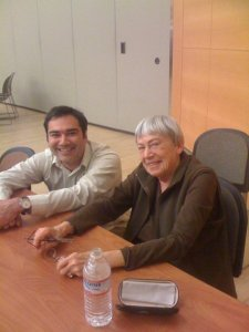 Anthony Alvarado hangs out with Ursula K. LeGuin
