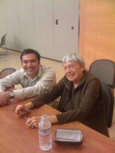 Anthony Alvarado hangs out with Ursula K. LeGuin