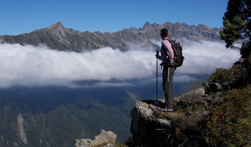 Chamonix Hiking View of Valley