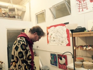 Artist Jason Mclean in his studio