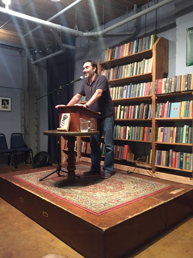 Anthony presenting at Eliot Bay Books